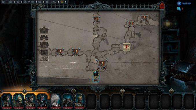 Iratus - Karte des aktuellen Dungeons