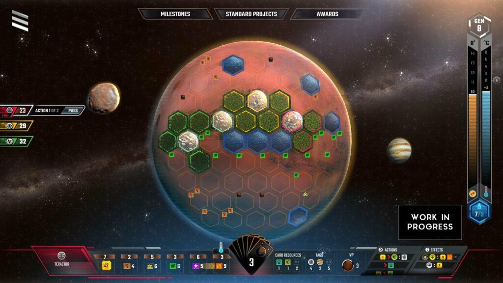 Terraforming Mars – Das rundenbasiertes Strategiespiel ist eine Adaption der Brettspiel-Vorlage von Jacob Fryxelius